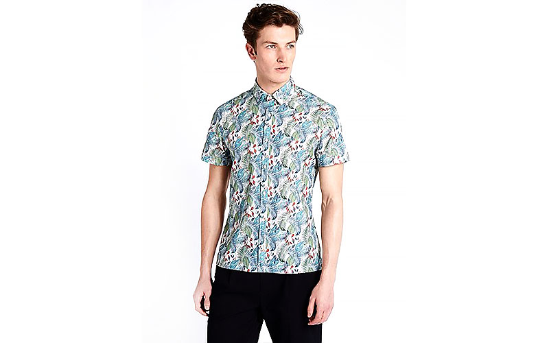Hand-Drawn-Printed-Short-Sleeve-Shirt-1