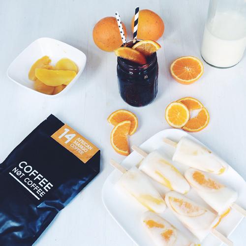 Besonders an heißen Tagen schmeckt der fruchtige African Mango Coffee perfekt zum selbstgemachten Mango-Milch-Eis!