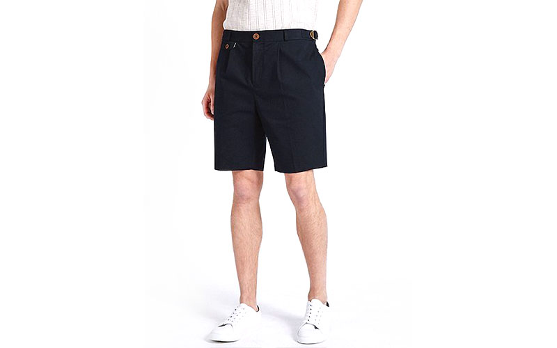 Textured-Cotton-Chino-Shorts