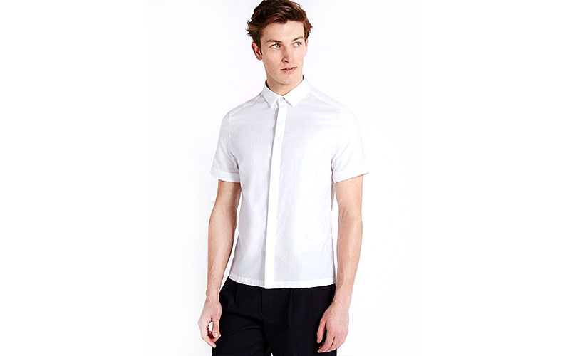 Waffle-Texture-Short-Sleeve-Shirt-1